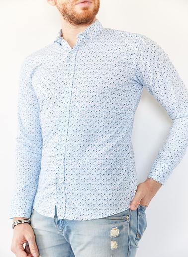 XHAN Gök Mavisi Slim Fit Gömlek 0Yxe2-44052-69 Mavi
